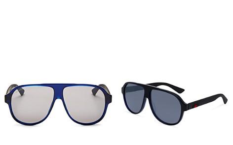 Gucci Men's Oversize Aviator Sunglasses, 64mm - Bloomingdale's_2