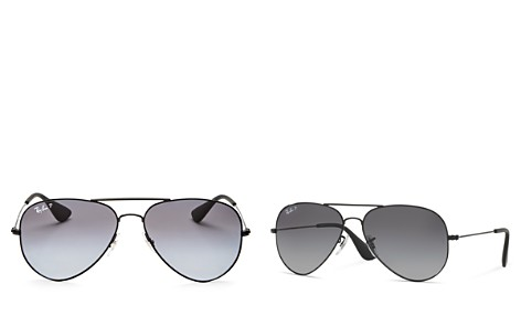 Ray-Ban Unisex Polarized Aviator Sunglasses, 58mm - Bloomingdale's_2