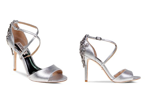 Badgley Mischka Karmen Embellished Metallic Leather High Heel Sandals - Bloomingdale's_2