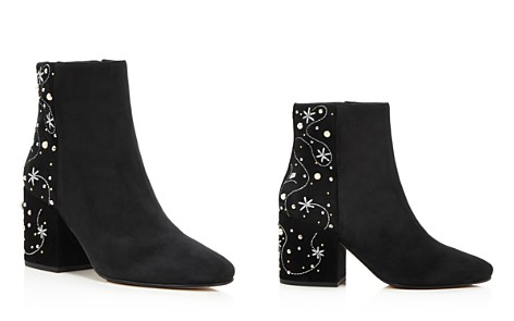 Sam Edelman Taft Embroidered Pearl Stud Booties - 100% Exclusive - Bloomingdale's_2