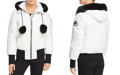Moose Knuckles Debbie Fox Fur Trim Down Bomber Jacket - Bloomingdale's_2