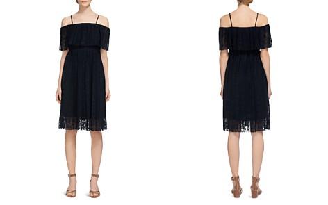 Whistles Cold-Shoulder Plissé Dress - Bloomingdale's_2
