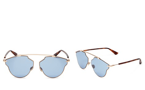 Dior So Real Pop Brow Bar Geometric Sunglasses, 58mm - Bloomingdale's_2