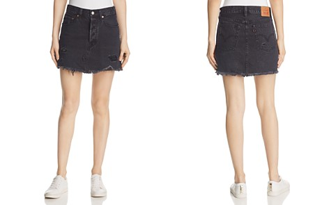 Levi's Deconstructed Denim Mini Skirt in Gimme Danger - Bloomingdale's_2