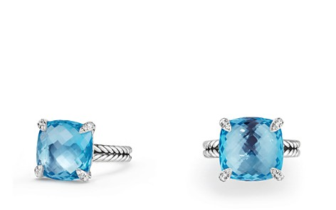 David Yurman Châtelaine Ring with Blue Topaz and Diamonds, 14.3mm - Bloomingdale's_2