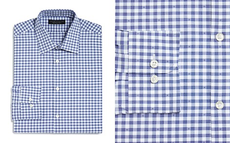 The Men's Store at Bloomingdale's Gingham Dobby Regular Fit Dress Shirt - 100% Exclusive_2