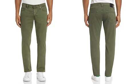 AG Graduate Slim Straight Fit Twill Pants in Sulfur Climbing Ivy - Bloomingdale's_2