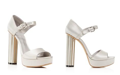 Salvatore Ferragamo Women's Satin Floral High-Heel Platform Sandals - Bloomingdale's_2