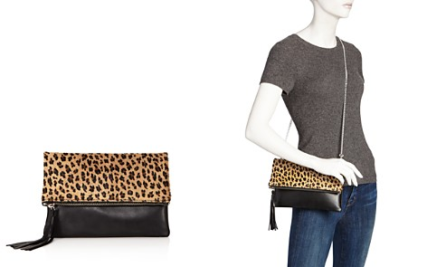 AQUA Foldover Leopard Print Calf Hair and Leather Crossbody - 100% Exclusive - Bloomingdale's_2