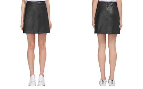 Whistles Leather A-Line Skirt - Bloomingdale's_2