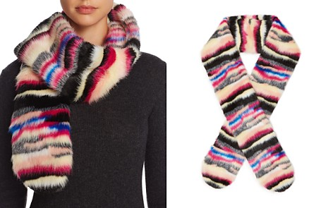 Cara New York Multicolor Faux Fur Scarf - 100% Exclusive - Bloomingdale's_2
