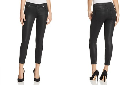 7 For All Mankind Coated Ankle Skinny Jeans in Black Clean - Bloomingdale's_2