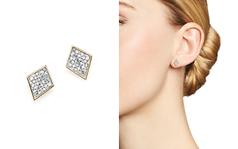 Adina Reyter 14K Yellow Gold Pavé Diamond Folded Square Stud Earrings - Bloomingdale's_2