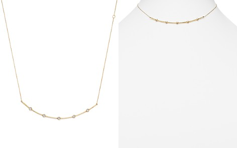 "Adina Reyter 14K Yellow Gold Five Diamond Curved Collar Necklace, 12.5"" - Bloomingdale's_2"