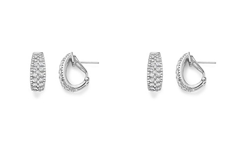 Diamond Huggie Hoop Earrings in 14K White Gold, 1.40 ct. t.w. - 100% Exclusive - Bloomingdale's_2