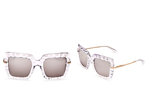 Dolce&Gabbana Women's Mirrored Oversized Square Sunglasses, 50mm - Bloomingdale's_2