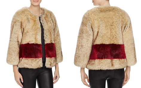 Love Token Color-Blocked Faux Fur Coat - Bloomingdale's_2