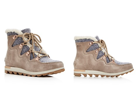 Sorel Women's Sneakchic Alpine Shearling & Leather Lace Up Booties - Bloomingdale's_2