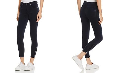 rag & bone/JEAN Ame Velvet Skinny Jeans in Navy - Bloomingdale's_2