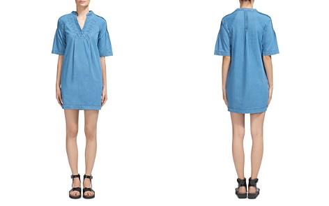 Whistles Denim Pin-Tuck Detail Mini Dress - Bloomingdale's_2