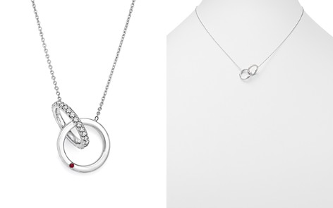 "Roberto Coin 18K White Gold Diamond Double Circle Pendant Necklace, 16"" - 100% Exclusive - Bloomingdale's_2"