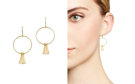 Bloomingdale's 14K Yellow Gold Circle and Fringe Charm Drop Earrings - 100% Exclusive_2