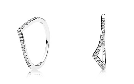 PANDORA Sterling Silver & Cubic Zirconia Shimmering Wish Ring - Bloomingdale's_2
