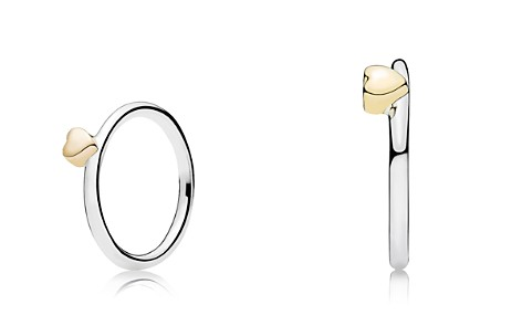 PANDORA Ring - Sterling Silver & 14K Gold Puzzle Heart - Bloomingdale's_2