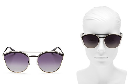 Polaroid Polarized Round Sunglasses, 60mm - Bloomingdale's_2