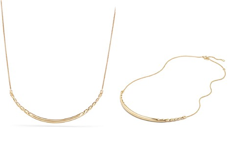 David Yurman Pure Form Collar Necklace in 18K Yellow Gold - Bloomingdale's_2
