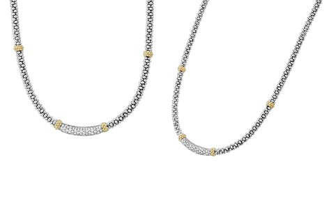 """LAGOS 18K Gold & Sterling Silver Diamond Lux Collar Necklace, 18"""" - Bloomingdale's_2"""