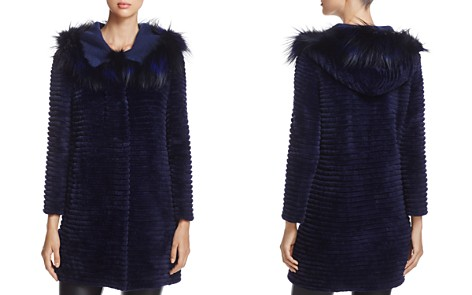 Maximilian Furs Fox Fur-Hood Sheared Beaver Fur Coat - Bloomingdale's_2