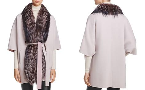 Maximilian Furs Saga Fox Fur-Trim Tunic - 100% Exclusive - Bloomingdale's_2