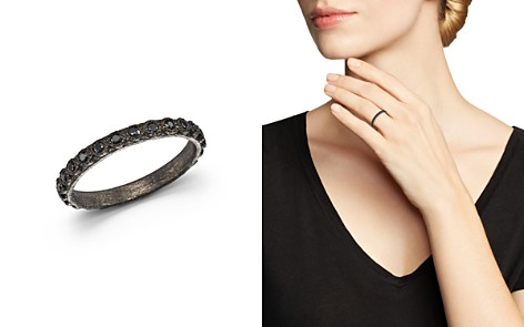 Armenta Blackened Sterling Silver Old World Black Sapphire Stacking Ring - Bloomingdale's_2