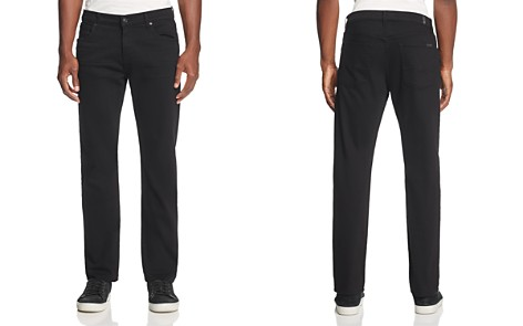 7 For All Mankind Annex Straight Fit Jeans in Black - Bloomingdale's_2