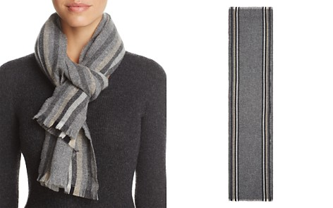C by Bloomingdale's Lightweight Vertical Stripe Cashmere Scarf - 100% Exclusive_2