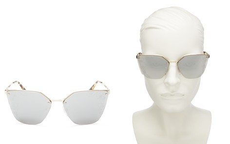 Prada Cat Eye Mirrored Sunglasses, 63mm - Bloomingdale's_2