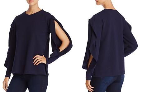 VINCE CAMUTO Split Ruffle Sleeve Sweatshirt - Bloomingdale's_2
