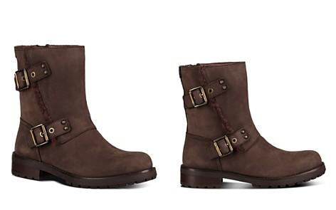 UGG® Women's Niels Leather & Sheepskin Moto Boots - Bloomingdale's_2