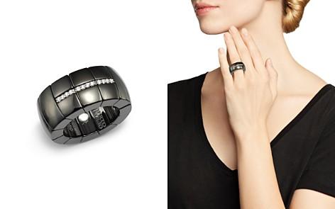 Roberto Demeglio 18K White Gold & Black Ceramic Domino Luce Stretch Ring with Diamonds - Bloomingdale's_2