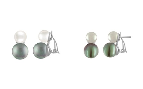 Majorica Simulated Pearl Clip-On Earrings - Bloomingdale's_2