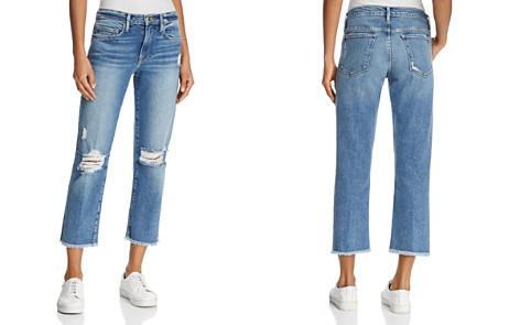 FRAME Le Nouveau Straight Cropped Jeans in Sackett - Bloomingdale's_2