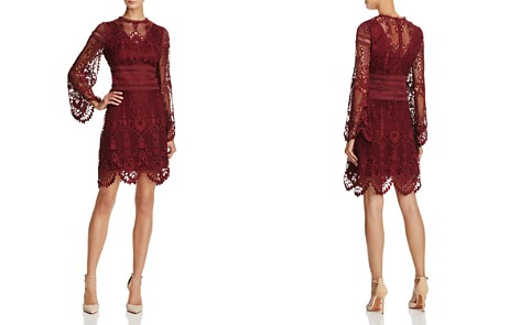 Laundry by Shelli Segal Long-Sleeve Lace Dress - Bloomingdale's_2