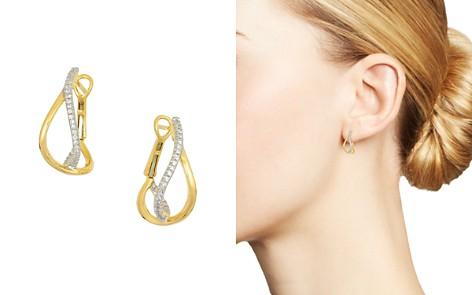 Frederic Sage 18K Yellow Gold Small Diamond Crossover Hoop Earrings - Bloomingdale's_2