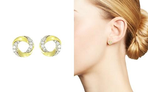 Frederic Sage 18K White & Yellow Gold Mini Halo Diamond Stud Earrings - Bloomingdale's_2