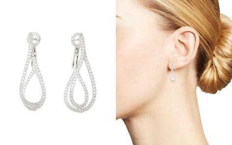 Frederic Sage 18K White Gold Diamond Crossover Loop Earrings - Bloomingdale's_2