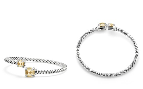 David Yurman Châtelaine Bypass Bracelet with 18K Gold and Diamonds - Bloomingdale's_2