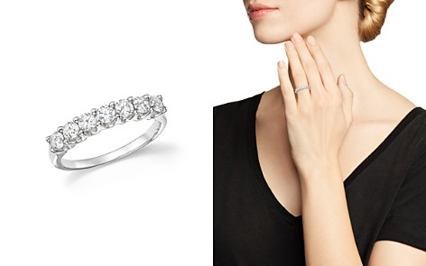 Bloomingdale's Diamond Seven Stone Band in 18K White Gold, .90 ct. t.w. - 100% Exclusive_2
