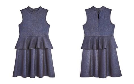 AQUA Girls' Metallic Peplum Dress, Big Kid - 100% Exclusive - Bloomingdale's_2