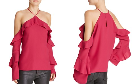 Cooper & Ella Isadora Ruffled Cold-Shoulder Top - Bloomingdale's_2